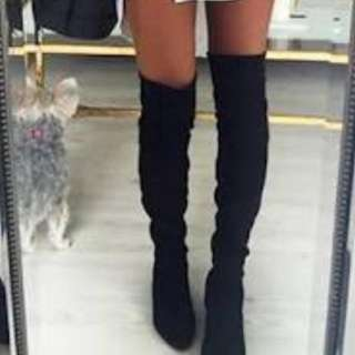 Tony Bianco - Over The Knee Boots - Suede Size 5