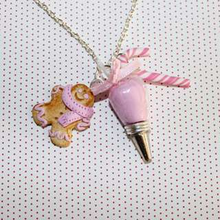 Bakery Christmas Necklace (074)
