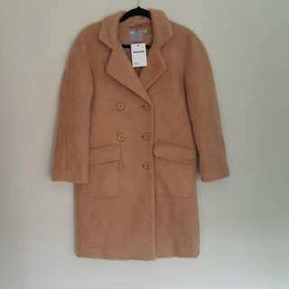 Asos - NEW Camel Mid Length Coat Size Uk6
