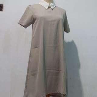 Coral Dress Grey