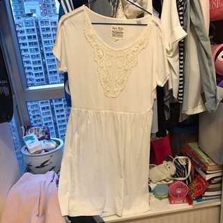 Jackwills白色連身裙 棉質 舒適