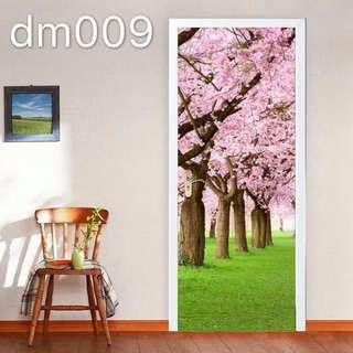 Sakura PVC Door Sticker Wall Sticker