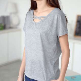 Strapped Neckline Shirt