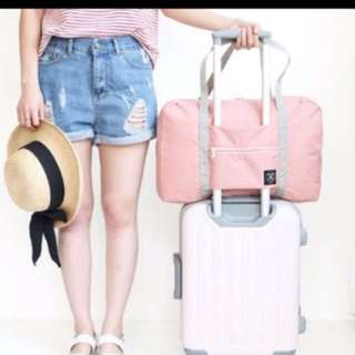 Travel Foldable Bag With luggage Pull Thru feature Korea Design^Travel Bag*Travel Accessory*Travel Essential