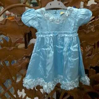 Original EYKA Blue Dress Elsa Size S (12 - 18 Months Old)