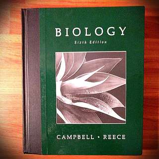 Biology Textbook By Campbell And Reece Sixth Edition Hardcover With CD-ROM