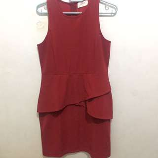 Gaudi Red Peplum Dress #ClearanceSale