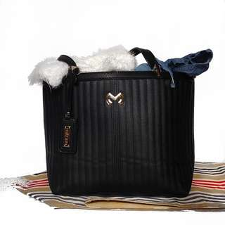 Milano Veloaubrey Structured Black Bag