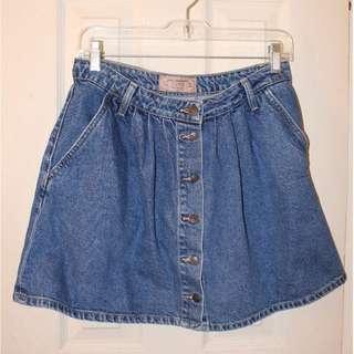 ZARA Button-Up Denim Skirt