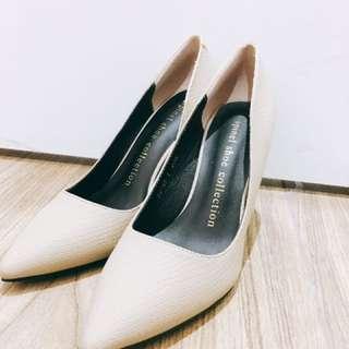 Beige/white High Heels