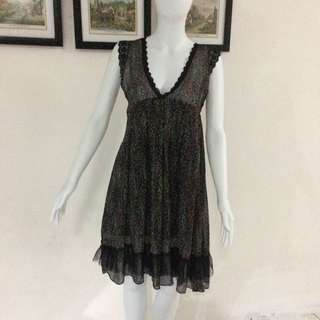 Black Small Paint Dress