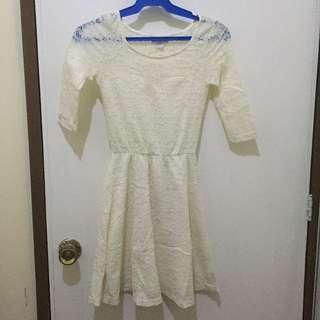 Cotton on White 3/4s Dress