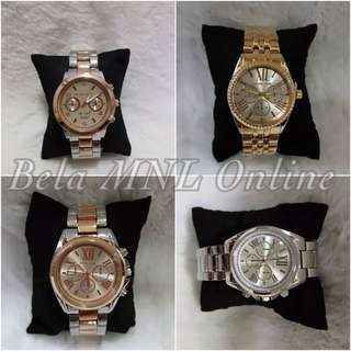 MICHAEL KORS STAINLESS STEEL WATCHES