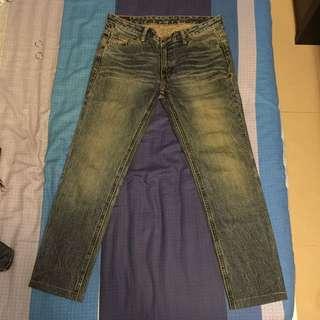 Lee 刷色牛仔褲 w30