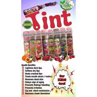 Organic Tint for lips, cheeks and eyelids