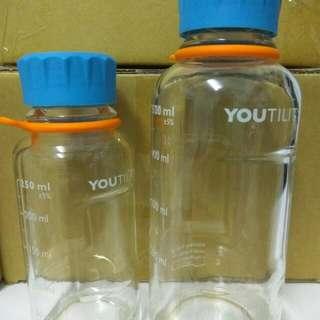 血清瓶 / 德國製 DURAN YOUTILITY / 玻璃瓶//環保水瓶/飲料瓶 /  隨身瓶(小)