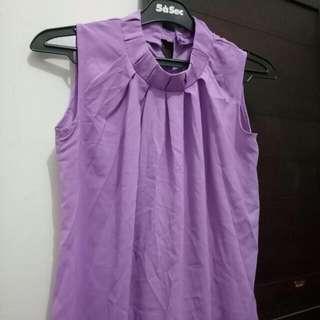 Purple Blouse Wanita ( Chiffon Blouse)