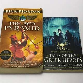 THE RED PYRAMID and TALES OF THE GREEK HEROES