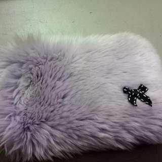 Pouch Bulu Cantik ( Soft Purple)