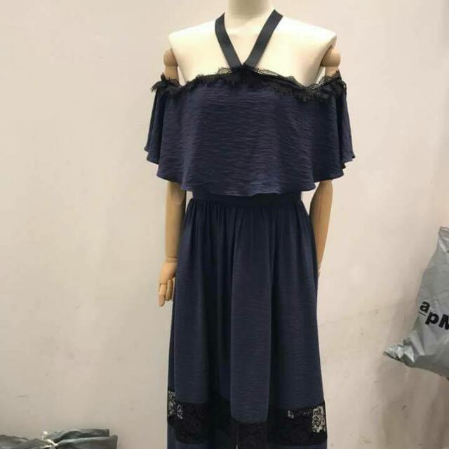 韓蕾絲拼接洋裝~大降價