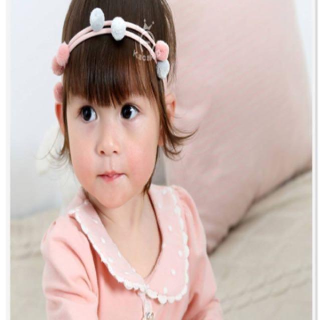 寶寶球球髮飾