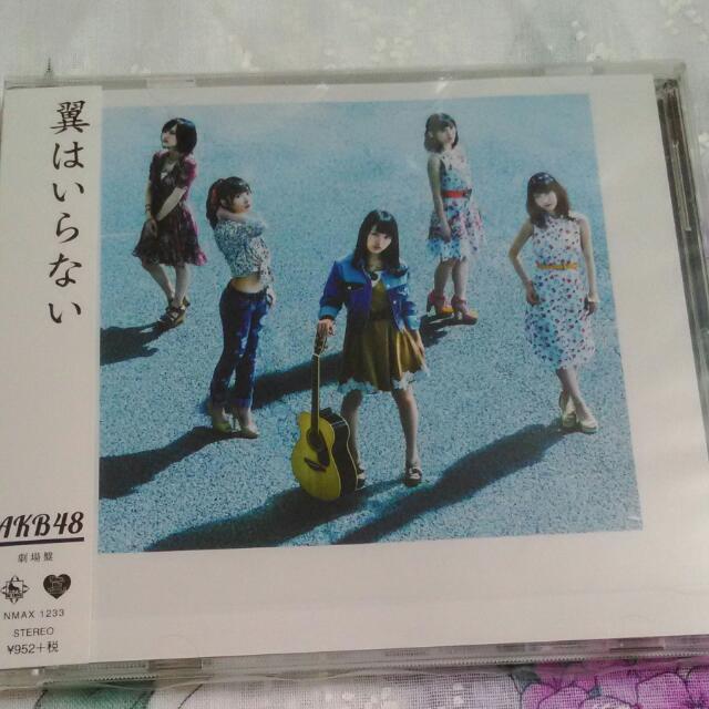 全新 AKB48 不需要翅膀 劇場盤 100元出清