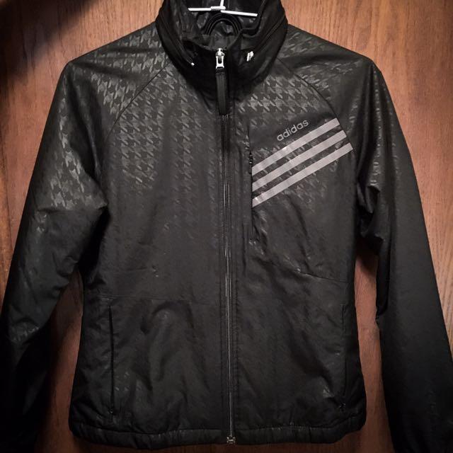 Adidas 外套 風衣 防潑水 女 S 黑