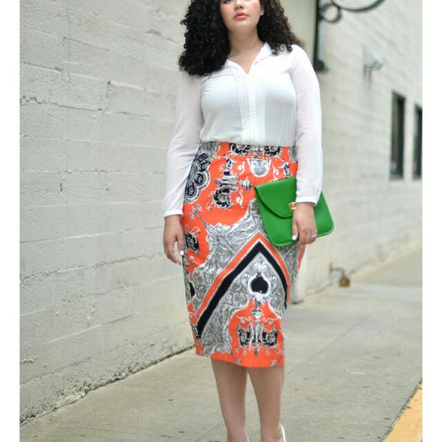 ASOS Baroque Mirror Pront Midi Skirt US4