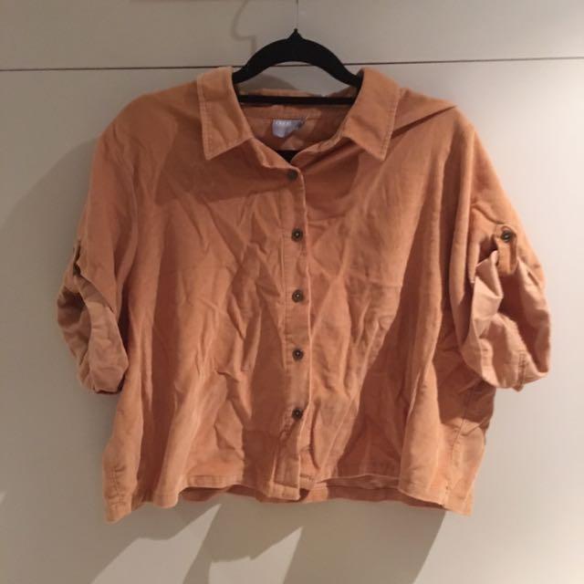 ASOS Corduroy Cropped Shirt