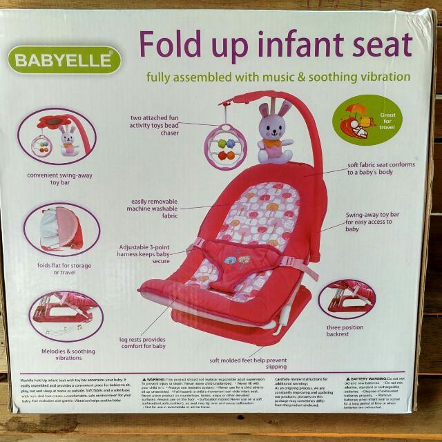 Baby Elle - Fold Up Infant Seat, Bayi & Anak, Kereta, Kursi Goyang & Gendongan Bayi di Carousell
