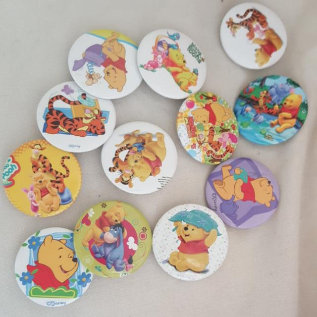 BABY SHOWER Winnie The Pooh Badges - Favours