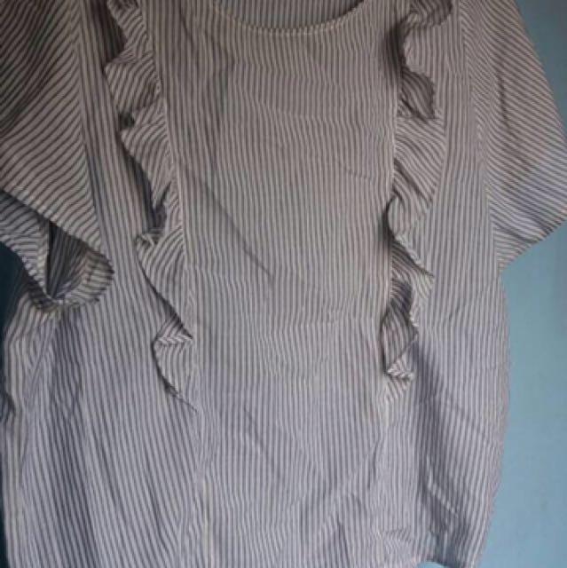 Baju Kemeja Strip
