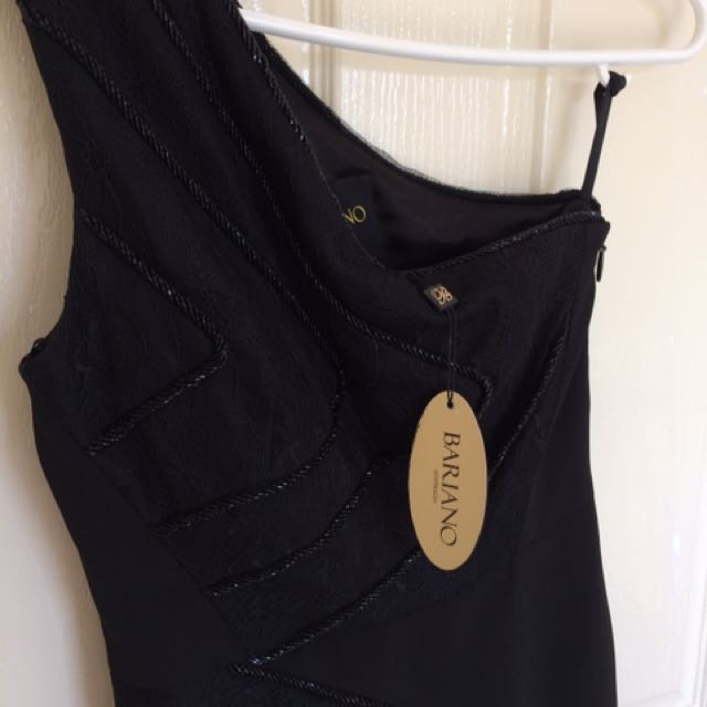 Bariano Off The Shoulder Black Dress Size 8