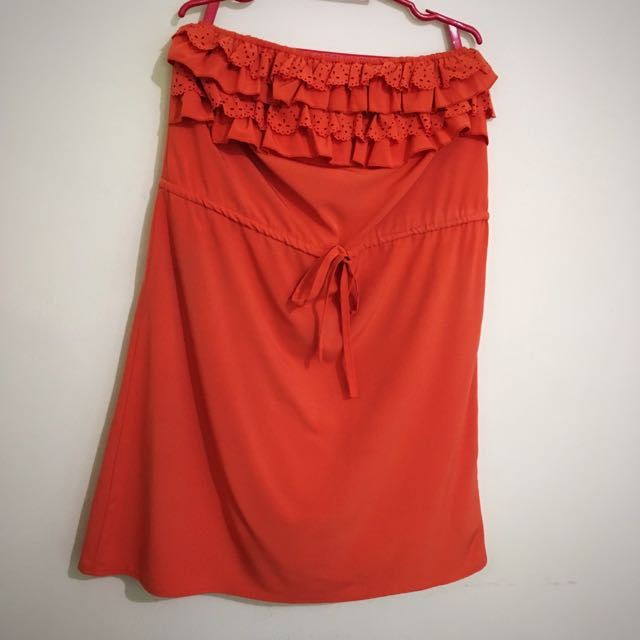Bayo Orange Tube Dress