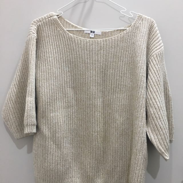 Beigh Knitted Sweater