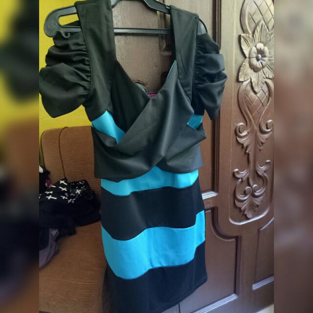 Black And Blue Dress From BoardWalk
