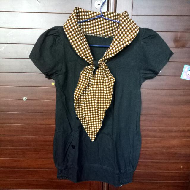 Black Collar Box Shirt