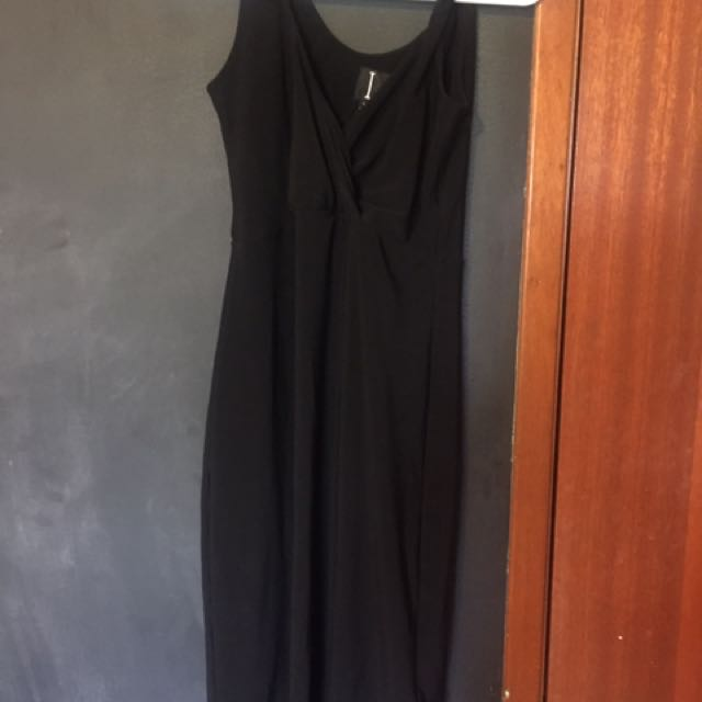 Black Fitted Dress - Small