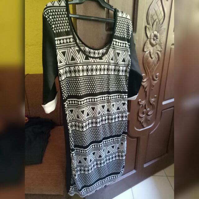 Black Printed Party Dress