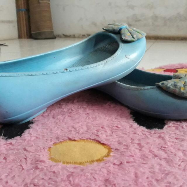 Blue Jelly Flatshoes