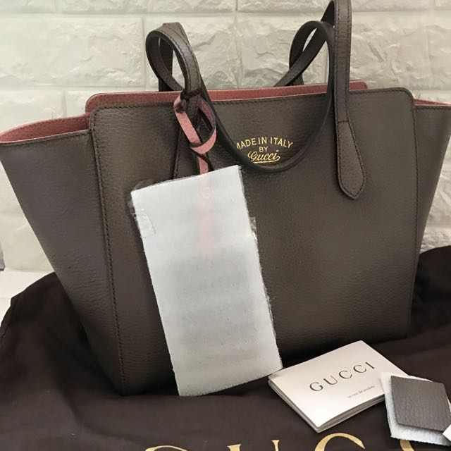 748ae6e11bd BN Authentic Gucci Swing Leather Tote Bag