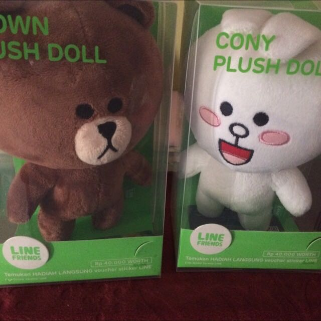 boneka line brown dan cony uk 18cm 52cb8a4c3b