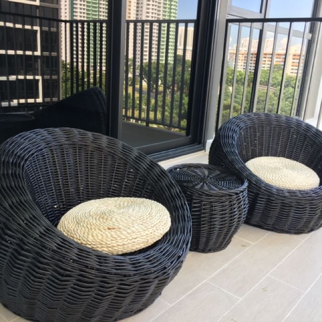 Awesome Brand New Outdoor Balcony Chair And Table Set Furniture Pabps2019 Chair Design Images Pabps2019Com