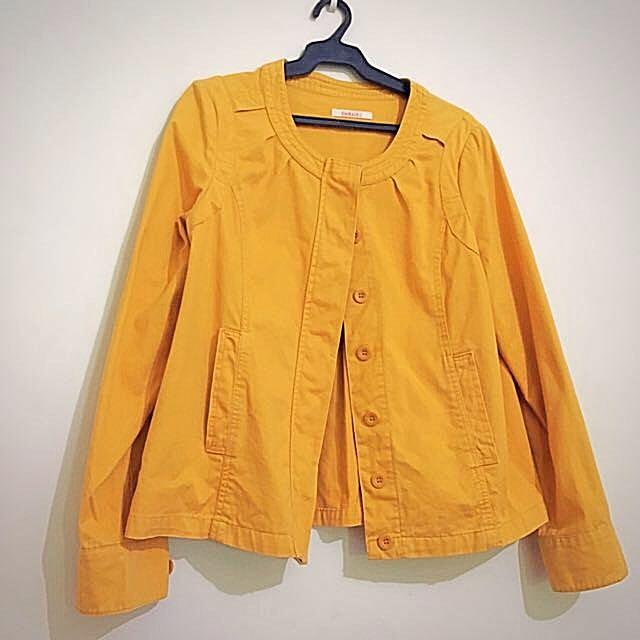 Camaieu Yellow Light Coat