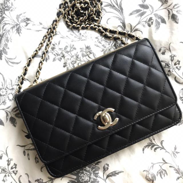 4ee80f80f6d3 Chanel Trendy CC WOC (wallet on chain), Luxury, Bags & Wallets on ...