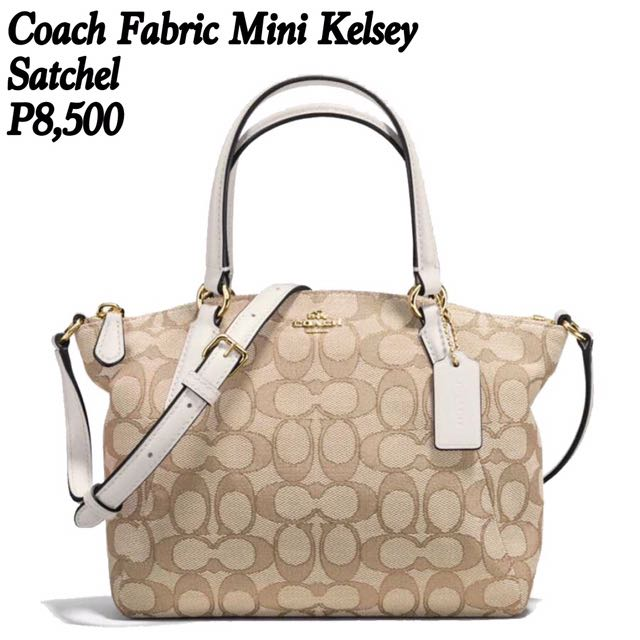 Coach Fabric Mini Kelsey Satchel