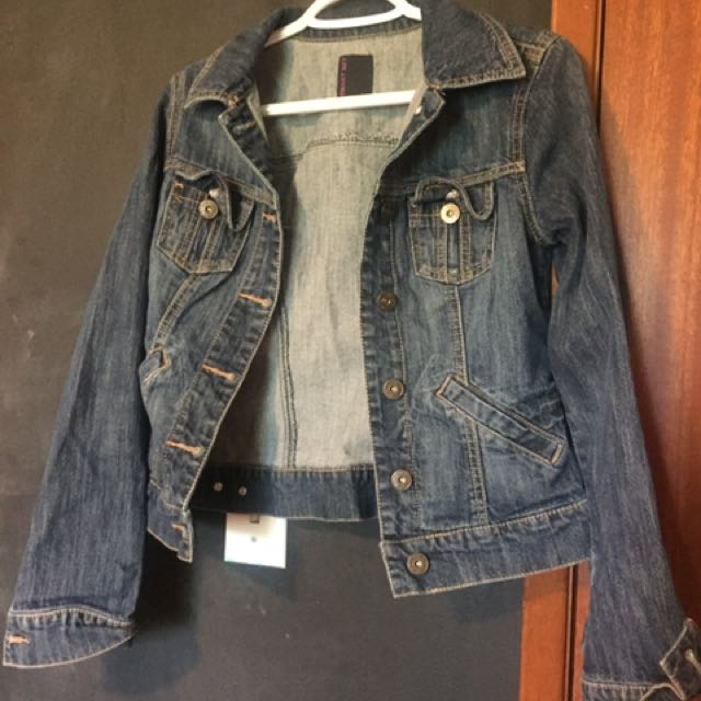 Denim Button Up Jacket - Small