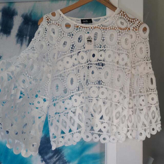 Dotti floral lace top size 10
