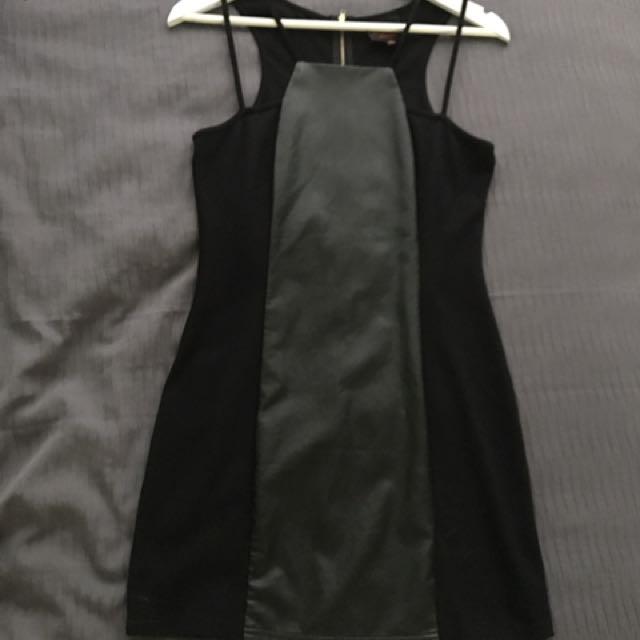 Double Strap Black Dress