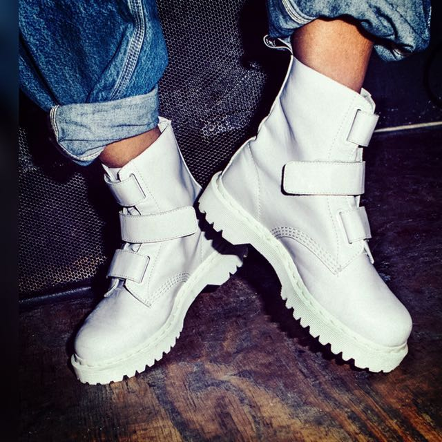 8c408a94e2d8 Dr Martens Coralia White Boots